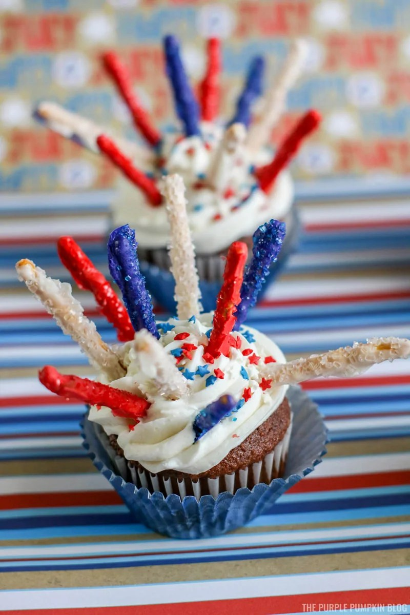 4th of July Fireworks Cupcakes
