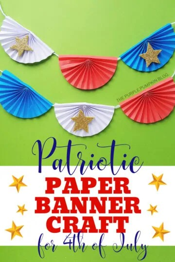 Patriotic Paper Banner Craft for 4th of July