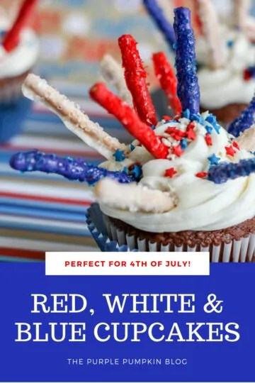 Red white and blue cupcakes for 4th of July