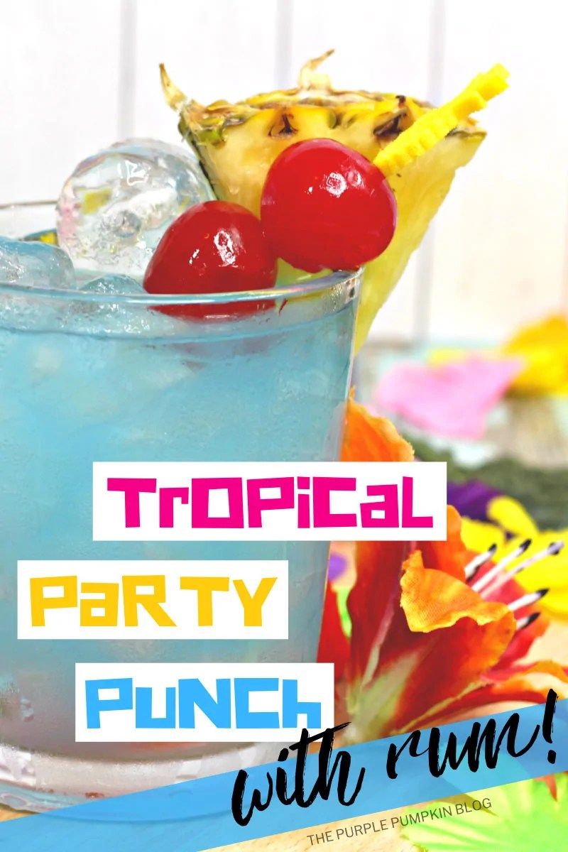 Tropical Party Punch with Rum