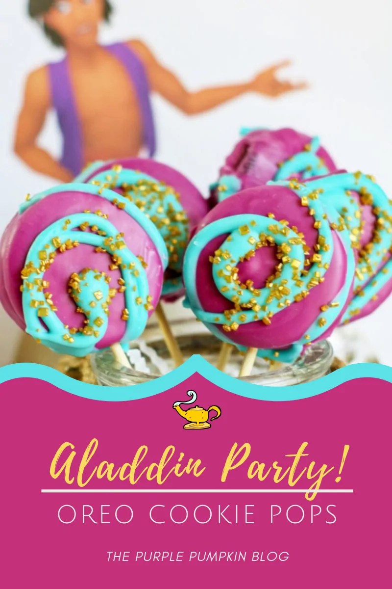 Aladdin Cookie Pops for a Party