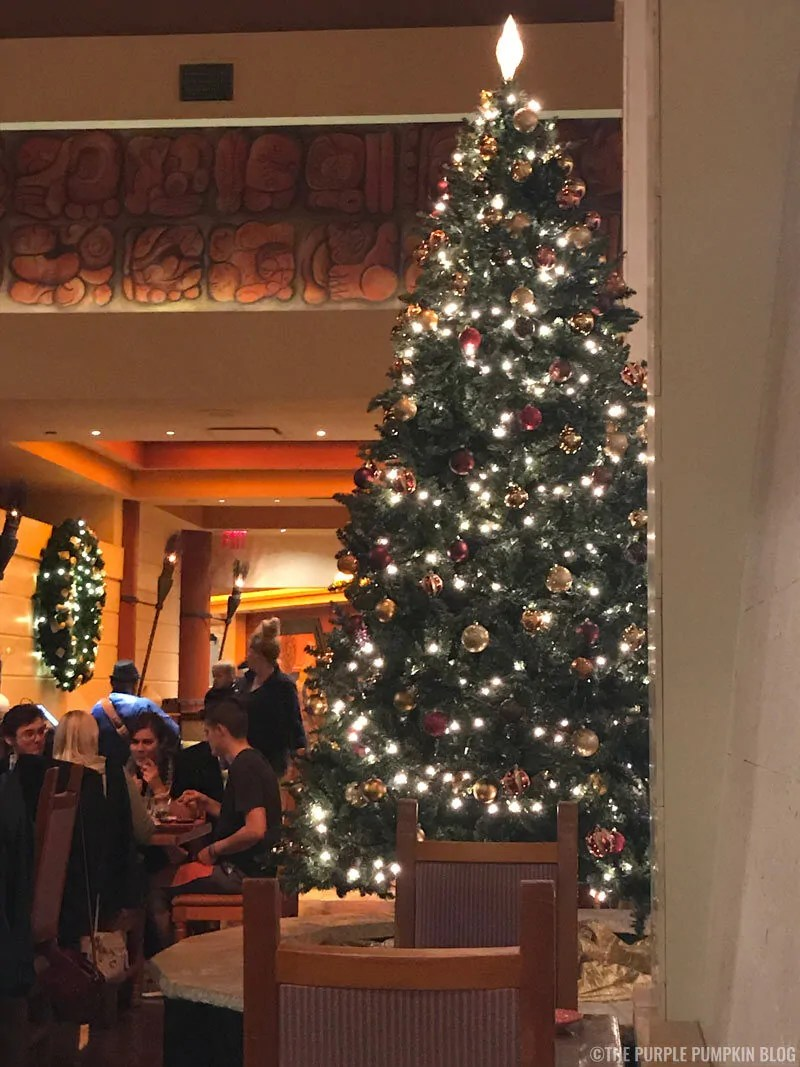 Christmas Tree in Maya Grill, Coronado Springs