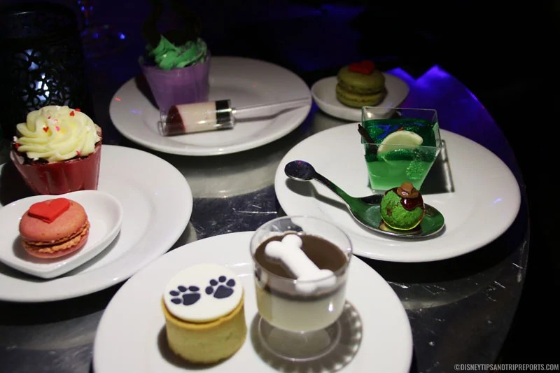 Mini Desserts at Club Villain (Disney's Hollywood Studios) These are similar in size as to what you would get at a Fireworks Dessert Party