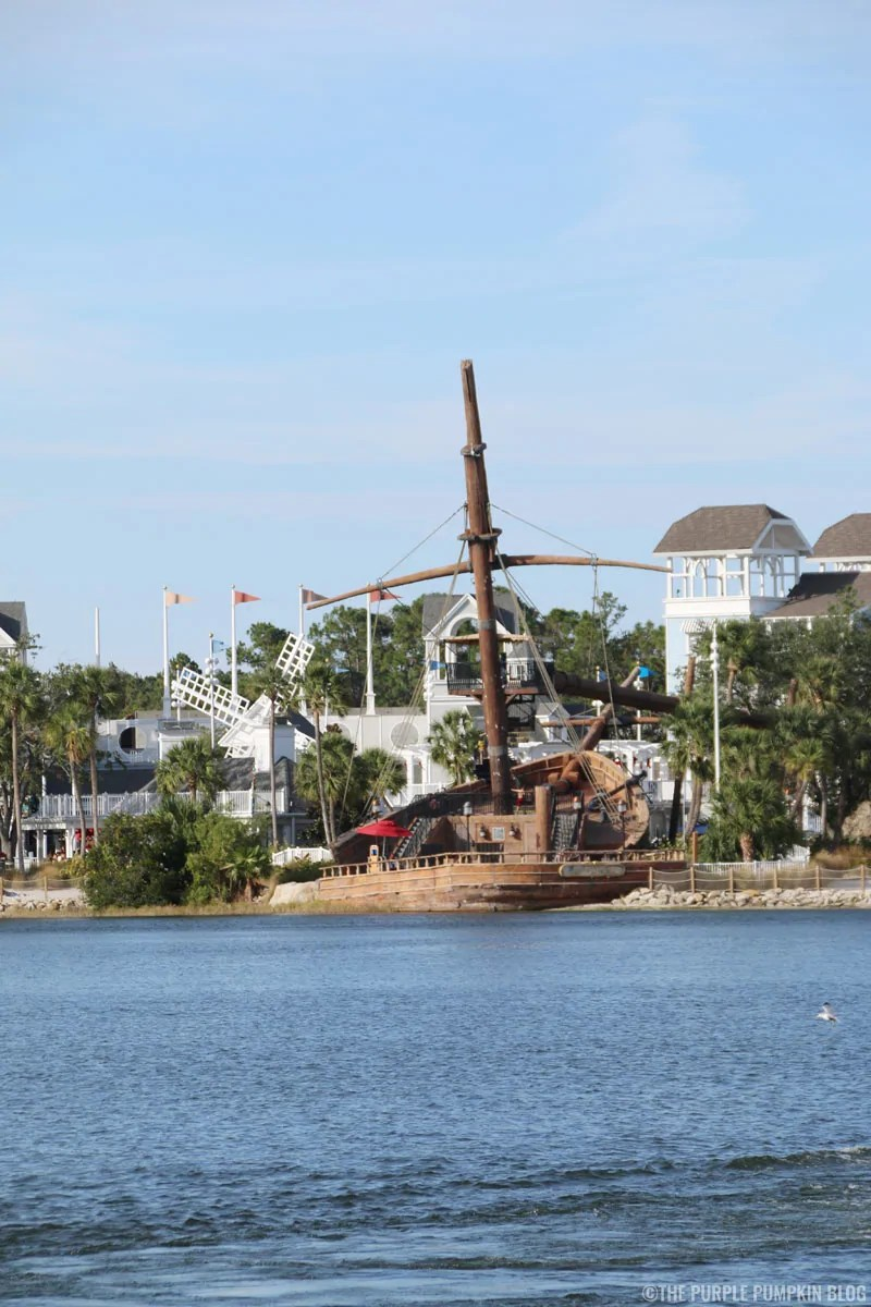 Yacht & Beach Club's water slide is a old ship!