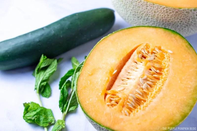Cucumber, Cantaloupe, Fresh Mint