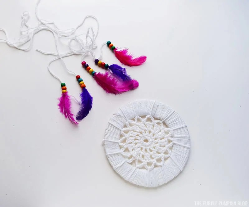 Completed components for Dreamcatcher.
