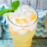 Cucumber Cantaloupe Mint Fizz Cocktail