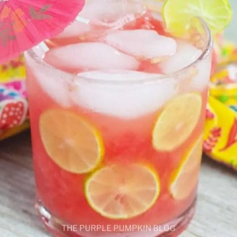 Watermelon Lime Spritzer Cocktail