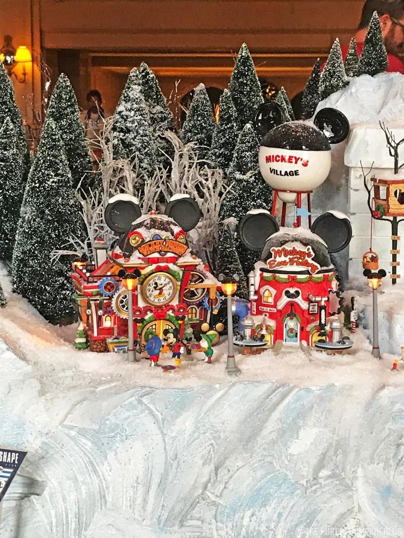 Model Christmas Village at Disney's Yacht Club