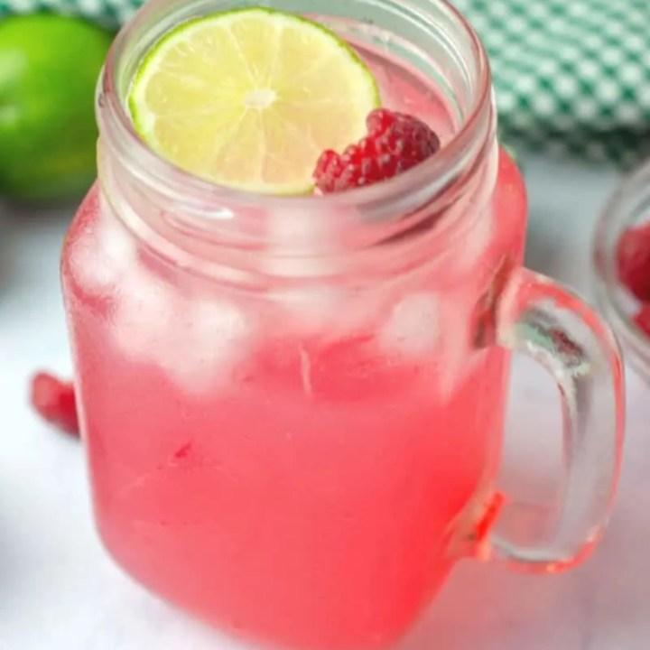 Raspberry Lime Vodka Cocktail