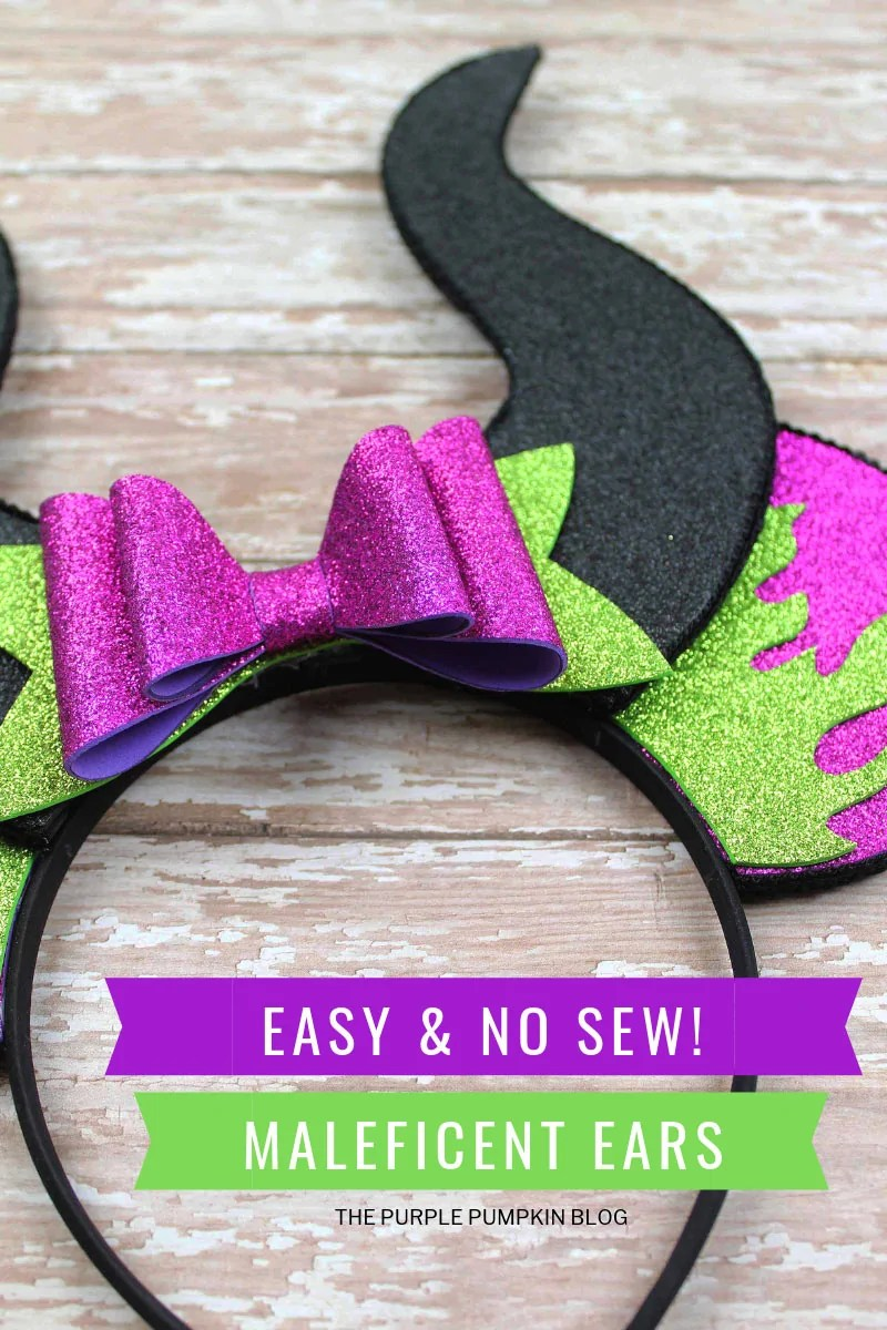 Easy & No Sew Maleficent Ears