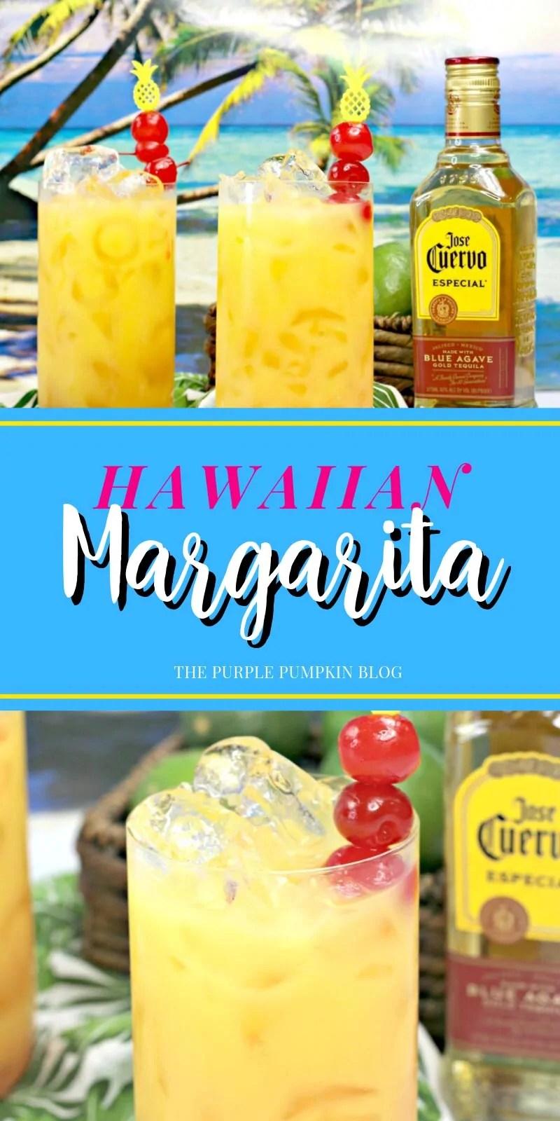 Glasses of Hawaiian Margaritas