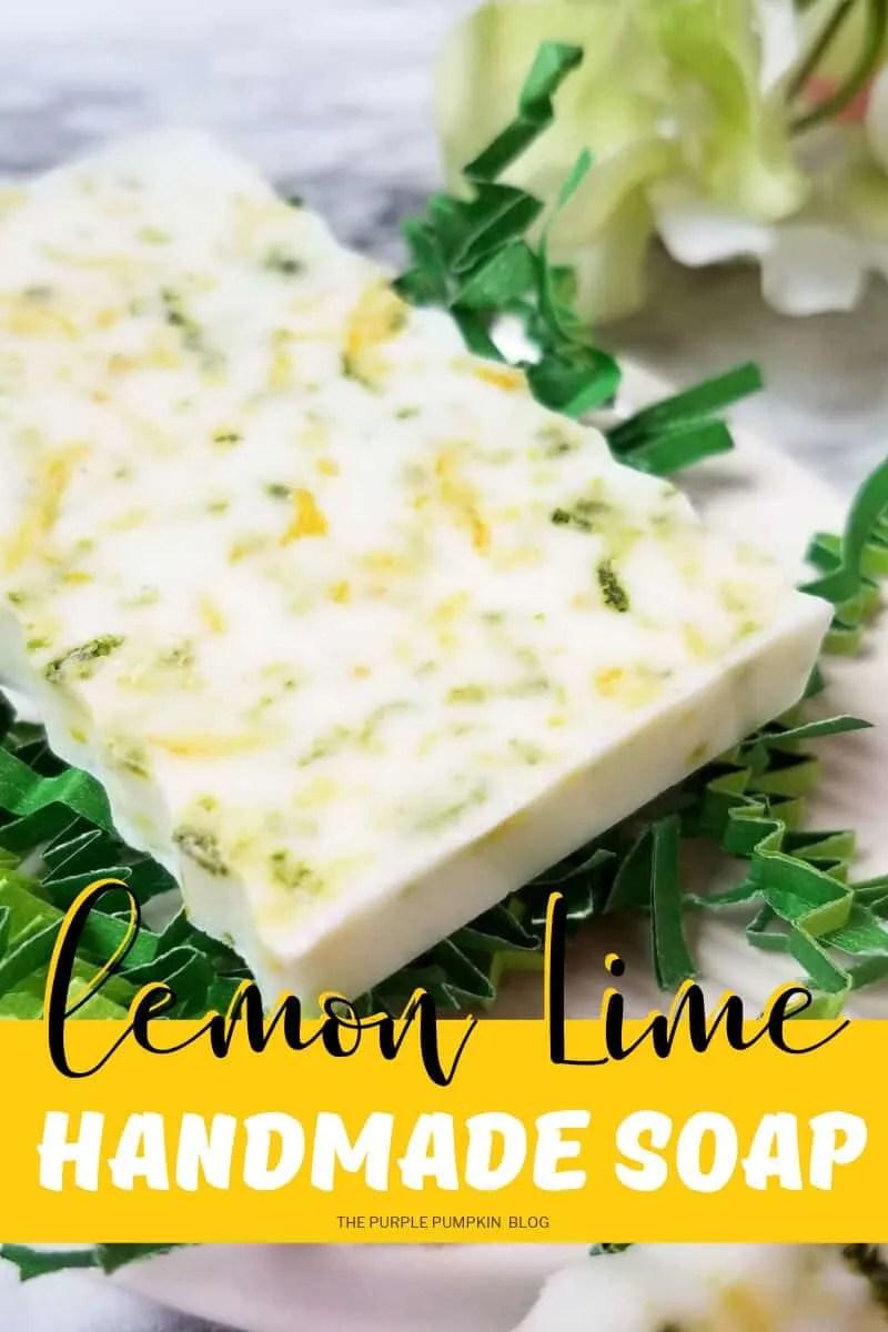 lemon lime handmade soap