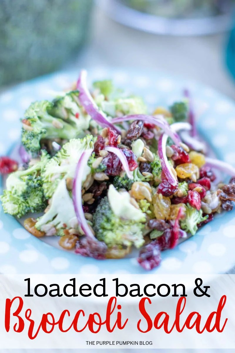 Loaded bacon and broccoli salad