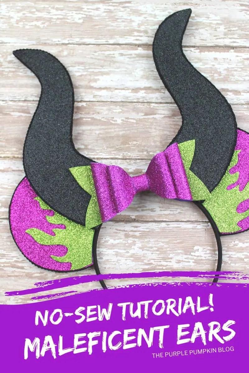 No-Sew Tutorial - Maleficent Ears
