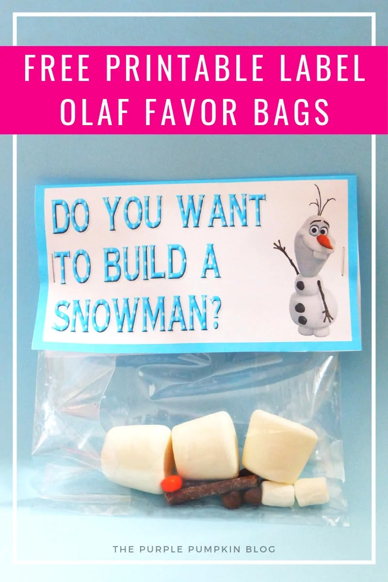 Olaf Party Favor Bag