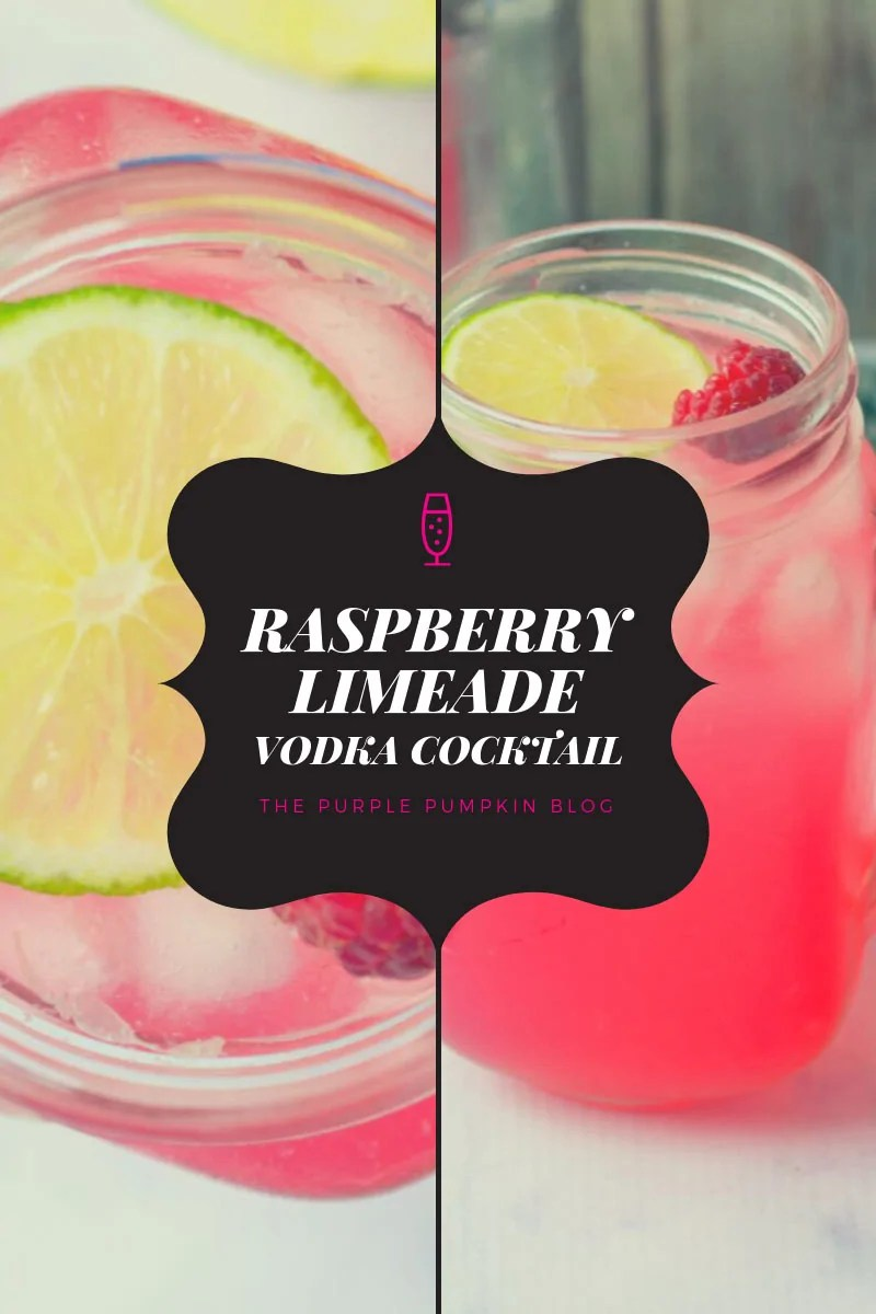 Raspberry Limeade Vodka Cocktail