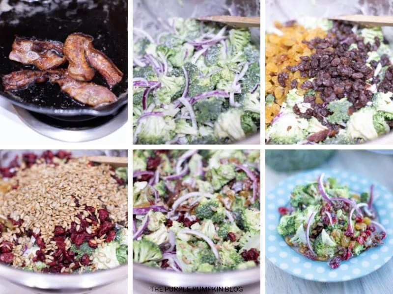 Recipe Card for Loaded Broccoli Bacon Salad