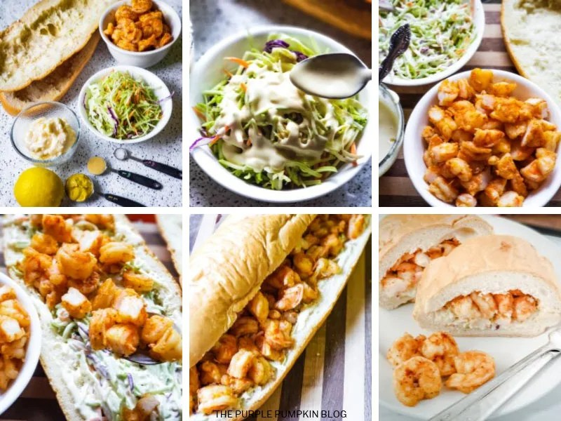 Recipe card for Shrimp Slaw Sandwich