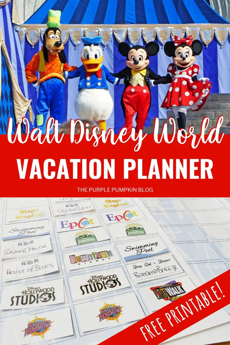 picture relating to Free Printable Disney Tickets identified as Orlando, Walt Disney Planet Family vacation Planner Cost-free Printable