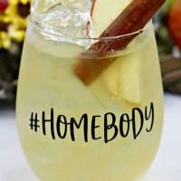 Bourbon Apple Cider Maple Fizz Cocktail