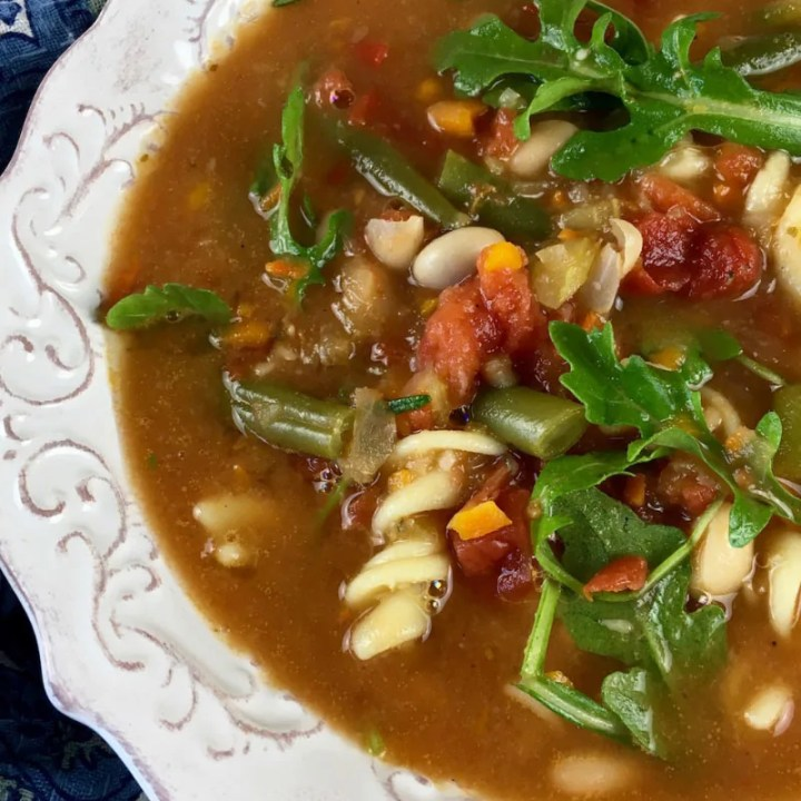Hearty Minestrone Soup with Arugula