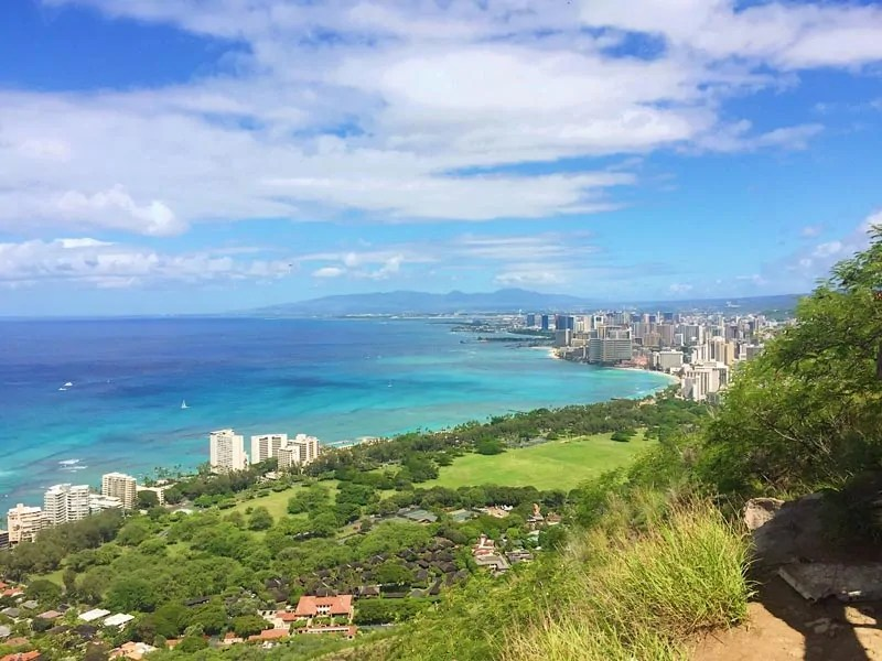 Climbing Diamond Head - Oahu Hawaii