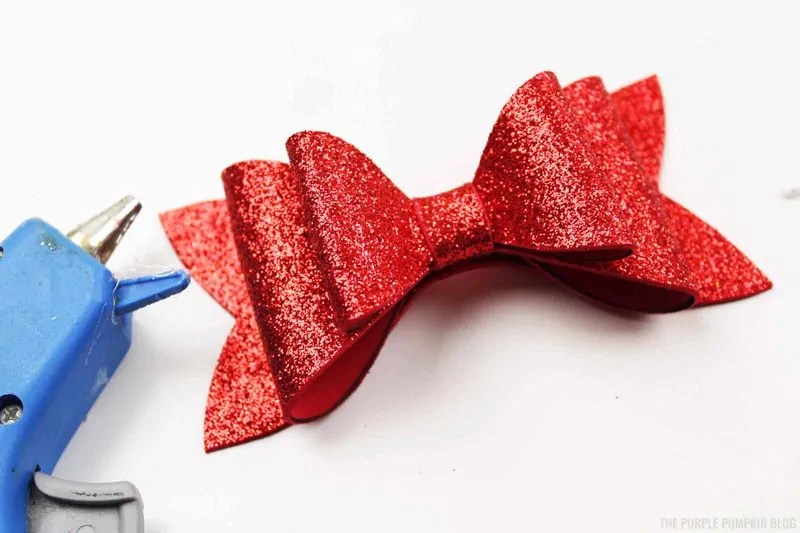 Completed Red Snow White Bow