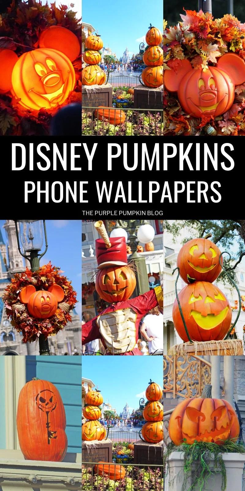 Disney Pumpkins Phone Wallpapers