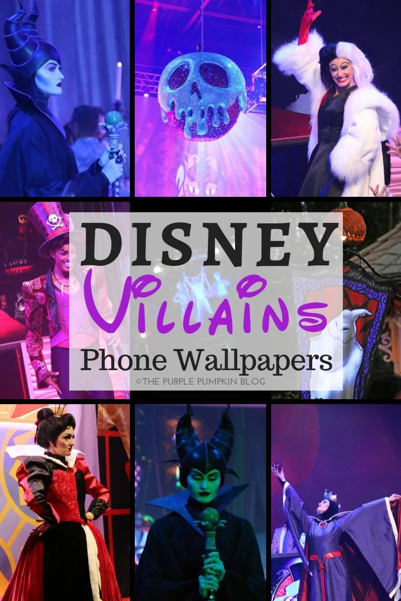 a set of nine Disney Villains to use as phone wallpapers
