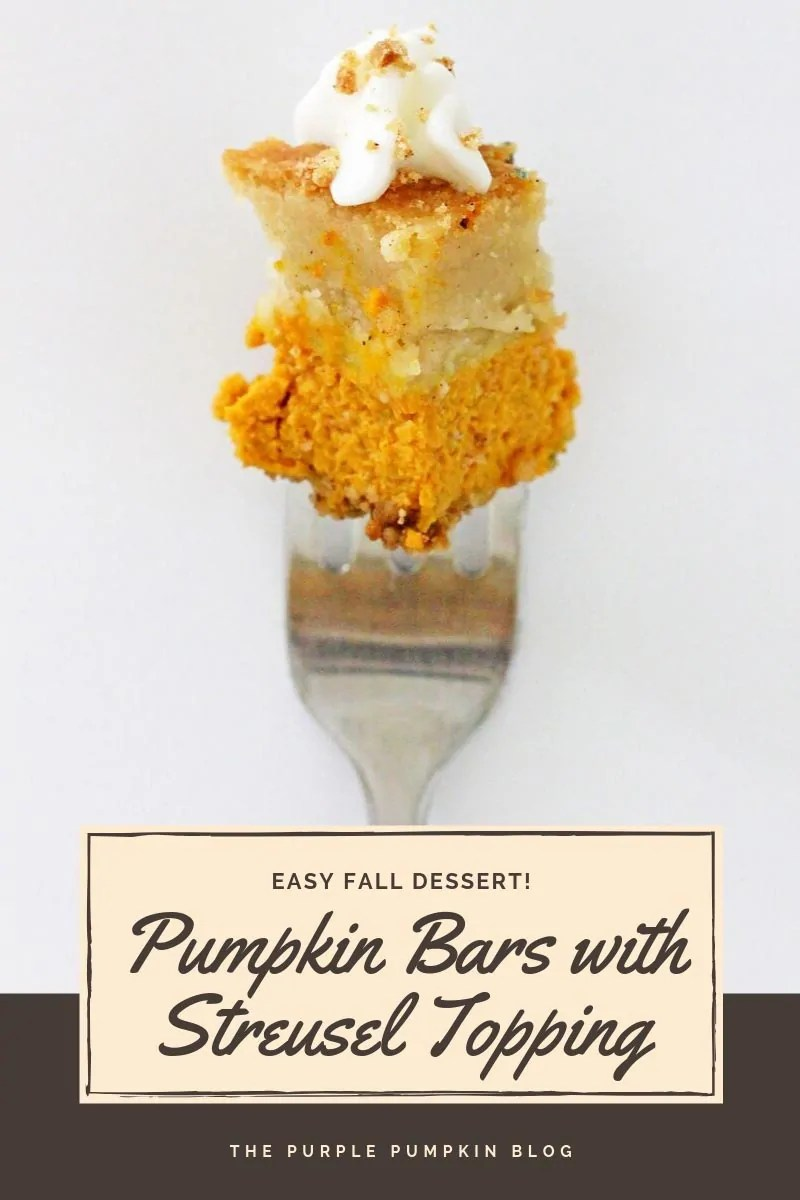 Easy fall dessert - pumpkin bars with streusel topping