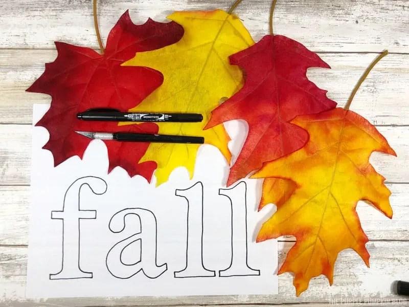 Fall Leaf Banner Craft Supplies