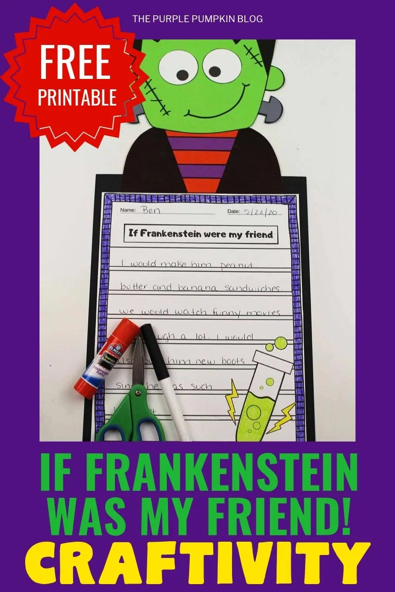 Free-Printable-Craftivity-If-Frankenstein-Was-My-Friend