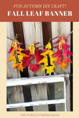 Fun Autumn DIY Craft - Fall Leaf Banner
