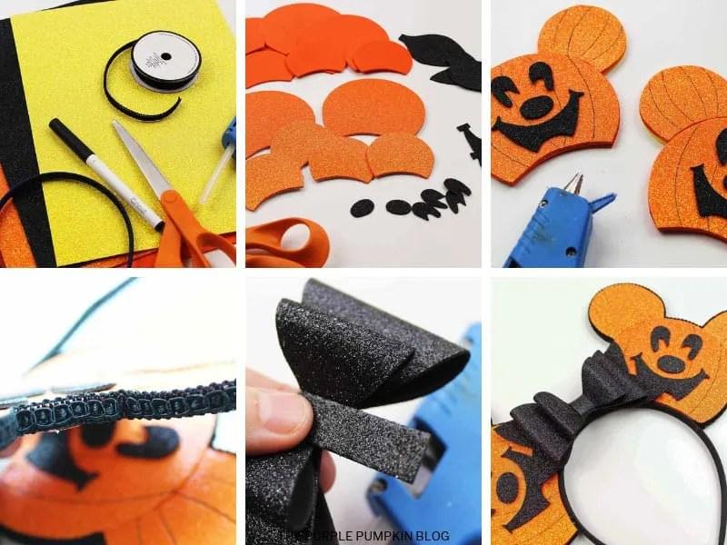 How to make Pumpkin Mickey Ears photo instruction card