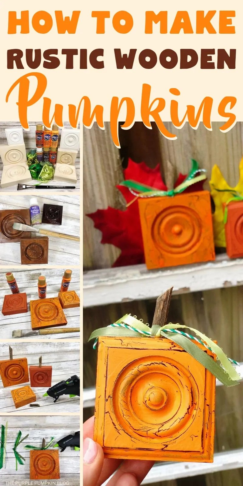 How to make Rustic Wooden Pumpkins