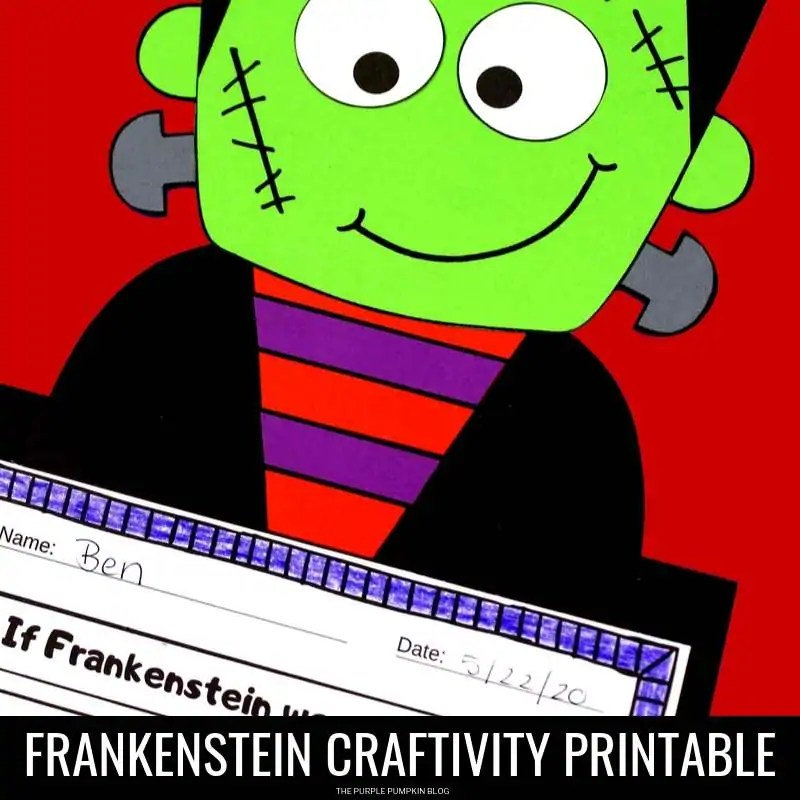 Frankenstein printable craftivity