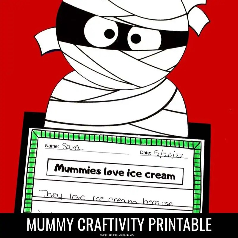 Mummy printable craftivity