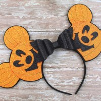 Pumpkin Mickey Ears Tutorial