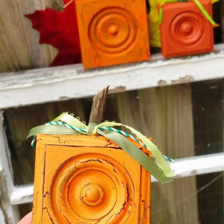 Rustic Wooden Pumpkins Craft