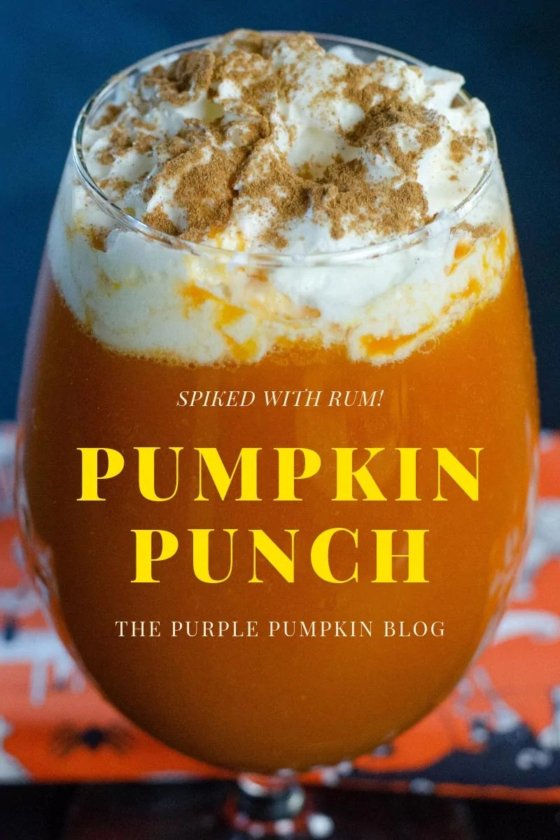 Spike with rum! A Glass of pumpkin punch