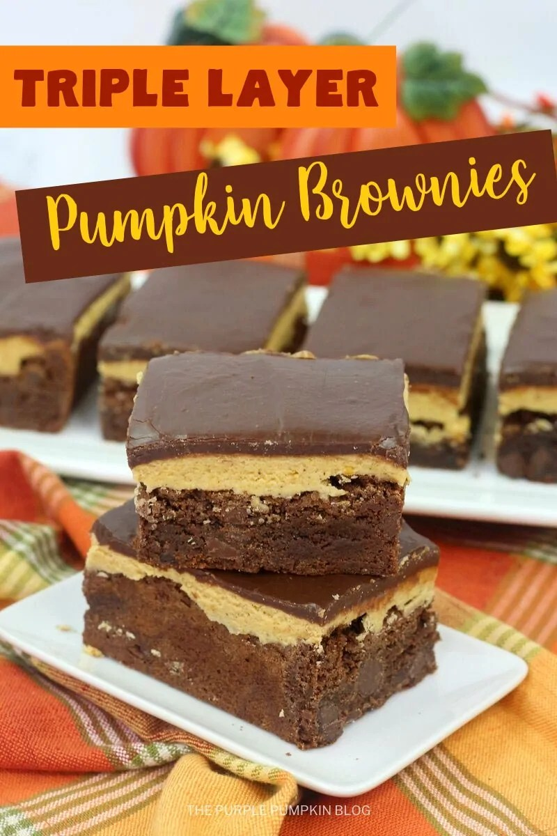 Triple Layered Pumpkin Brownies