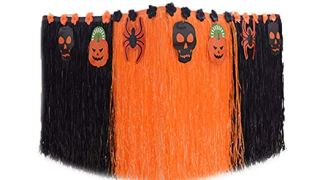 Black & Orange Table Skirt