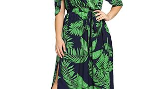 Plus SizeTropical Maxi Dress