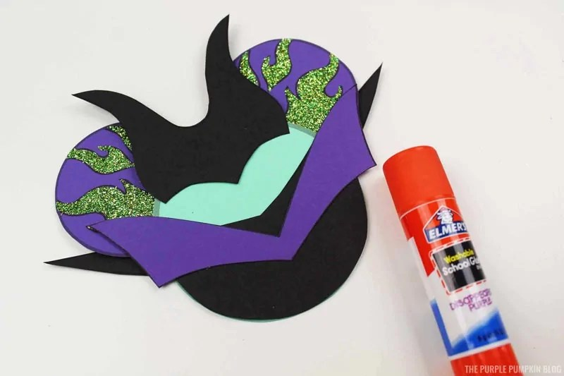 Handmade Maleficent Ornament construction