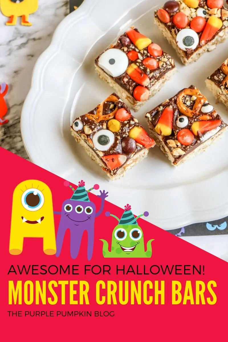 awesome for Halloween - monster crunch bars