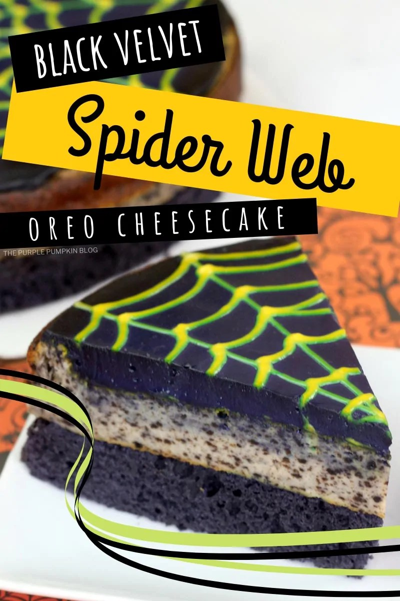 Black Velvet Spiderweb Oreo Cheesecake
