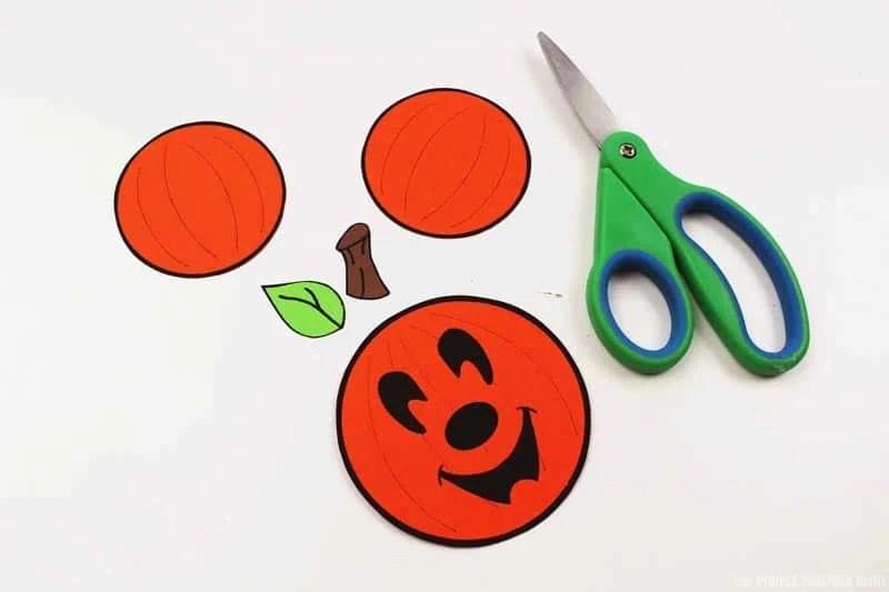 Cut Pieces of Mickey Pumpkin Ornament