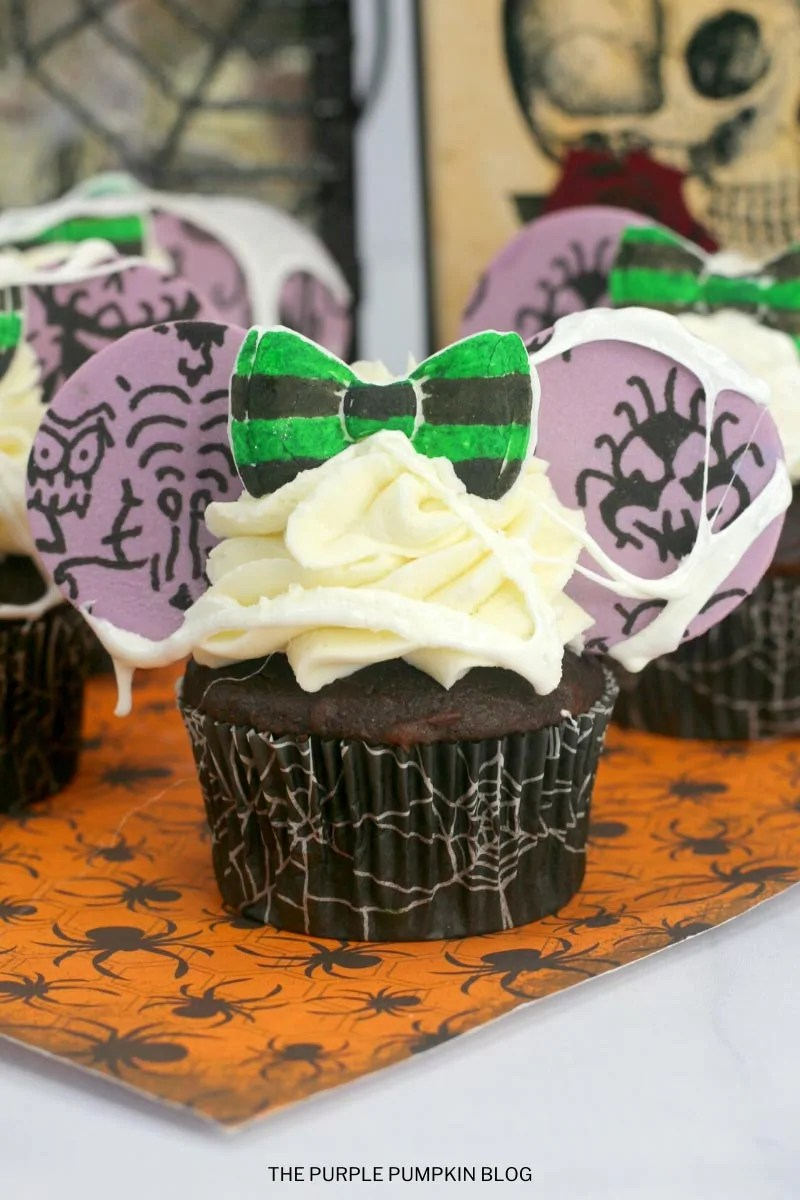 Disney's Haunted Mansion inspired cupcakes