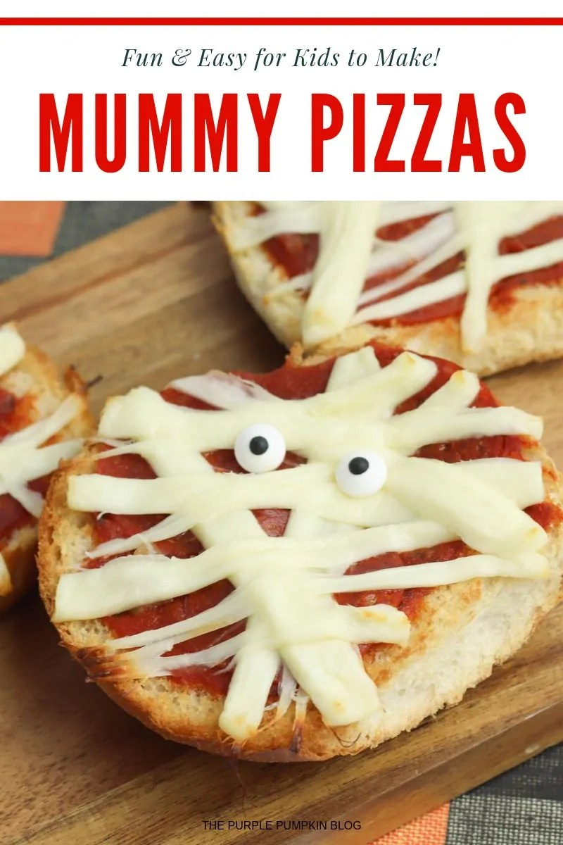 Fun and easy for kids to make! Mummy Pizzas